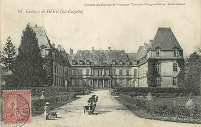 """/ CPA FRANCE 71 """"Château de Drée, la Clayette"""""""