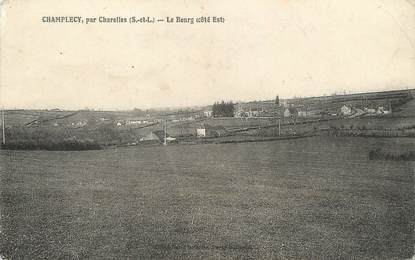 "/ CPA FRANCE 71 ""Champlecy, le bourg"""