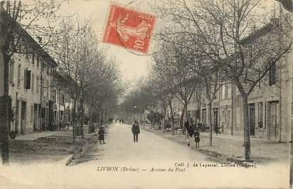 """CPA FRANCE 26 """"Livron, avenue du Pont"""""""