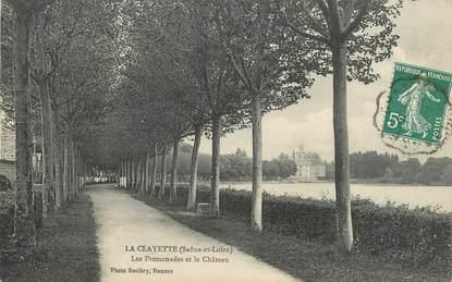"""/ CPA FRANCE 71 """"La Clayette, les promenades et le château"""""""