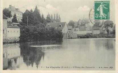 """/ CPA FRANCE 71 """"La Clayette, l'étang des Tanneries"""""""