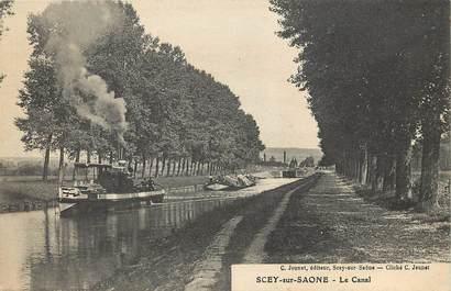 "CPA FRANCE 70 ""Scey sur Saone, le canal"" / BATELLERIE"