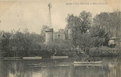"CPA FRANCE  95 ""Moulin à vent Pilter, à Butry"" / EOLIENNE"