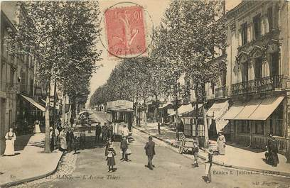 "CPA FRANCE  72 ""Le Mans, avenue Thiers"""