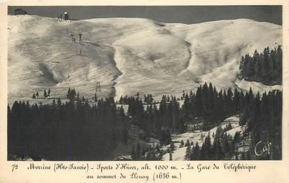 """/ CPA FRANCE 74 """"Morzine, sommet du Plenay"""" / GARE TELEPHERIQUE"""