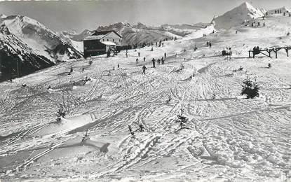 """/ CPSM FRANCE 74 """"Morzine, le viking et les champs de ski du Plénay"""""""
