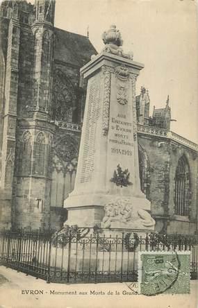 "CPA FRANCE 53 ""Evron, monument aux morts"""