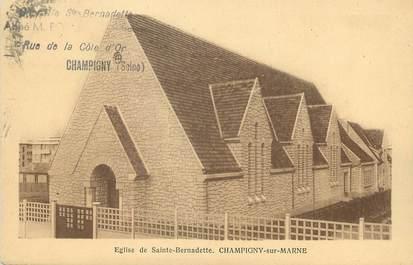 """/ CPA FRANCE 94 """"Champigny sur Marne, église Sainte Bernadette"""""""