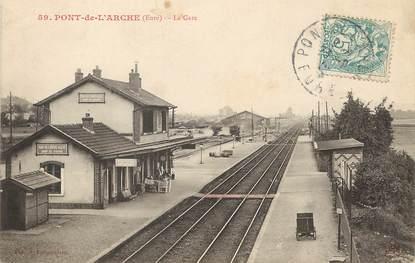 "/ CPA FRANCE 27 ""Pont de l'Arche, la gare"""