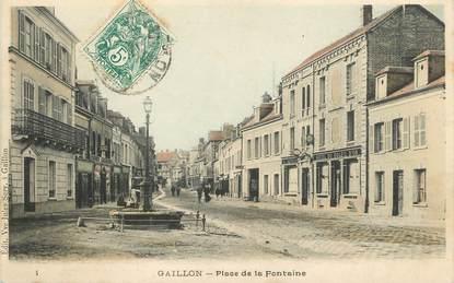 """/ CPA FRANCE 27 """"Gaillon, place de la fontaine"""""""