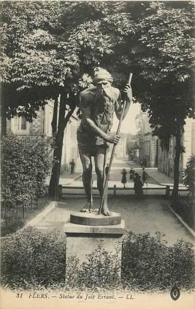 "CPA FRANCE 61 ""Flers, statue du juif errant"" / JUDAICA"