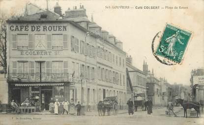"""/ CPA FRANCE 27 """" Louviers, café Colbert, place de Rouen"""""""