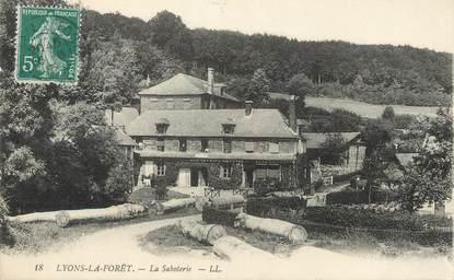 """/ CPA FRANCE 27 """"Lyon la Forêt, la saboterie"""""""