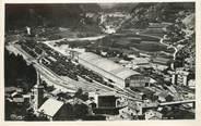 """73 Savoie / CPSM FRANCE 73 """"Modane Fourneaux, vue générale de la gare et les usines Matussier"""""""