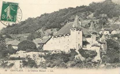 """/ CPA FRANCE 73 """"Conflans, le château Manuel"""""""