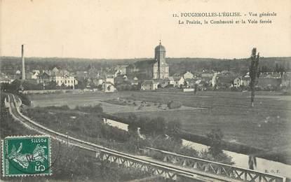 """/ CPA FRANCE 70 """"Fougerolles l'église, vue générale"""""""