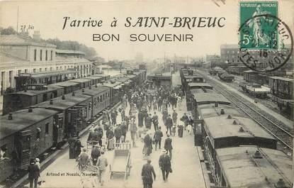 """CPA FRANCE 22 """"J'arrive à Saint Brieuc, Bon souvenir"""""""