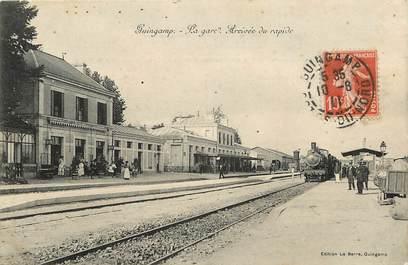 """CPA FRANCE 22 """"Guingamp, la gare"""" / TRAIN"""