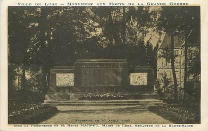 """/ CPA FRANCE 70 """"Ville de Lure, monument aux morts"""""""
