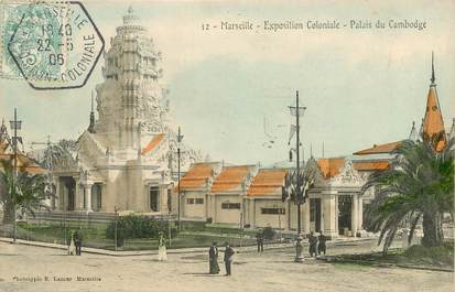 "CPA FRANCE 13 ""Marseille, exposition coloniale, Palais du Cambodge"""