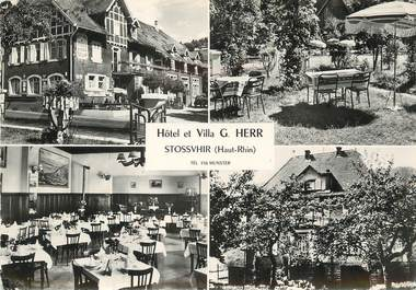 "/ CPSM FRANCE 68 ""Stossvhir, hôtel et villa G. Herr"""