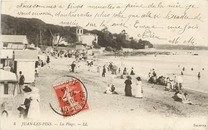 """CPA FRANCE 06 """"Juan les Pins, la plage, Ed. L.L."""""""