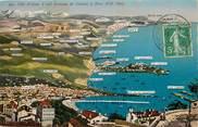 """06 Alpe Maritime CPA FRANCE 06 """"la Côte d'Azur à vol d'oiseau, de Cannes à Nice"""""""
