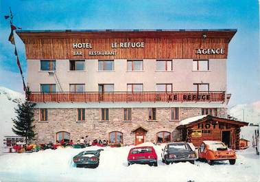 "/ CPSM FRANCE 73 ""Lac de Tignes, hôtel Le refuge"" / CITROEN"