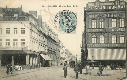 "CPA FRANCE 59 ""Roubaix, Grande Rue"""