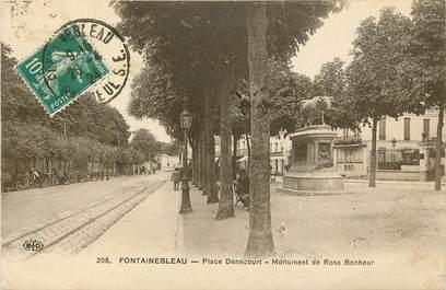 """CPA FRANCE 77 """"Fontainebleau, Place Denecourt"""""""