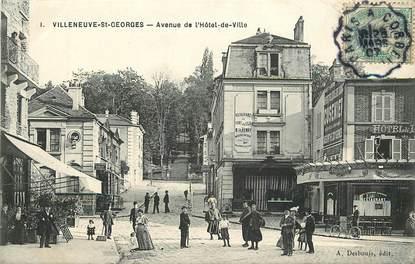 """CPA FRANCE 94 """"Villeneuve Saint Georges, avenue de l'Hotel de Ville"""""""