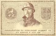 "76 Seine Maritime / CPA FRANCE 76 ""Sainte Adresse, inauguration du monument Albert 1er"""