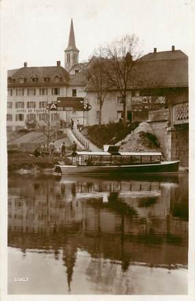 """CPSM FRANCE 25 """"Lac ou Villers, Embarcadère de l'Hotel de France"""""""