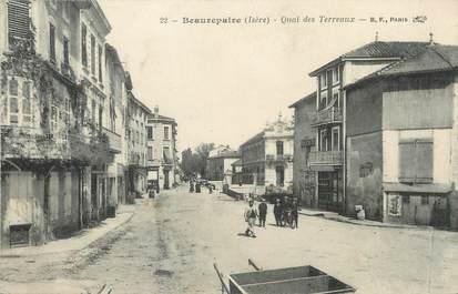 """/ CPA FRANCE 38 """"Beaurepaire, quai des Terreaux"""""""