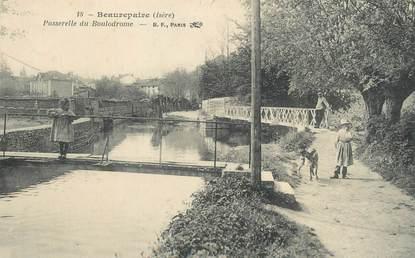 """/ CPA FRANCE 38 """"Beaurepaire, passerelle du boulodrome """""""