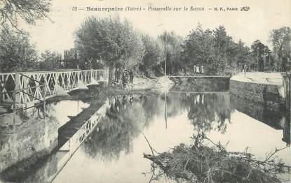 """/ CPA FRANCE 38 """"Beaurepaire, passerelle sur le Suzon """""""