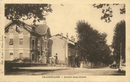 """/ CPA FRANCE 38 """"Beaurepaire, av Jean Jaurès"""""""