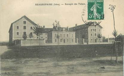 """/ CPA FRANCE 38 """"Beaurepaire, entrepôt des tabacs"""""""