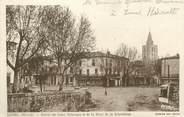 """34 Herault / CPA FRANCE 34 """"Lunel, entrée du cours Valatoura et de la place de la République"""""""