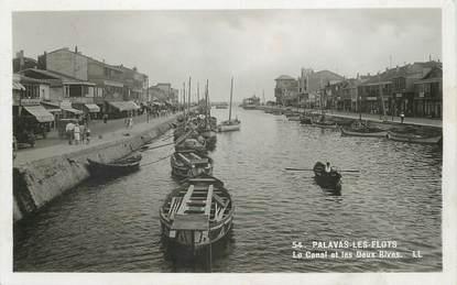 """/ CPSM FRANCE 34 """"Palavas les Flots, le canal et les deux rives"""""""