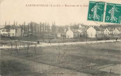 """/ CPA FRANCE 78 """"Sartrouville, environs de la gare"""""""