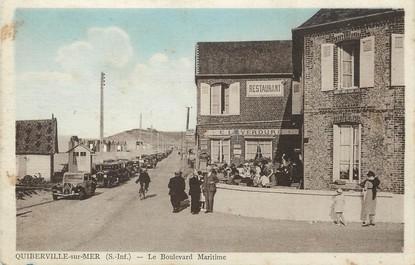 """/ CPA FRANCE 76 """"Quiberville sur Mer, le bld Maritime"""""""