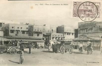 """CPA MAROC """"Fez, place du Commerce du Mellah"""" / JUDAICA"""