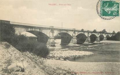 """/ CPA FRANCE 01 """"Villieu, pont sur l'Ain"""""""