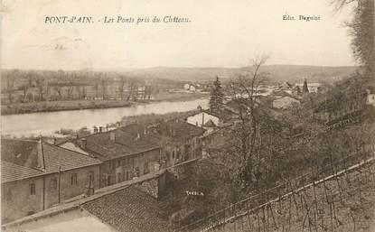 """/ CPA FRANCE 01 """"Pont d'Ain, les ponts pris du château"""""""