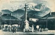 """74 Haute Savoie / CPA FRANCE 74 """"Sallanches, le monument aux morts et le mont Blanc"""""""