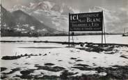 """74 Haute Savoie / CPSM FRANCE 74 """"Sallanches, au fond le Mont Blanc"""""""