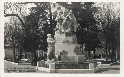 """/ CPSM FRANCE 74 """"Thonon les Bains, monument des Allobroges"""""""