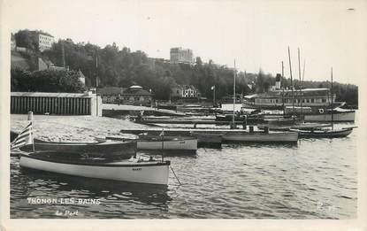 """/ CPSM FRANCE 74 """"Thonon les Bains, le port"""""""