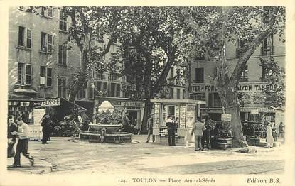 """/ CPA FRANCE 83 """"Toulon, place Amiral Sénès"""""""